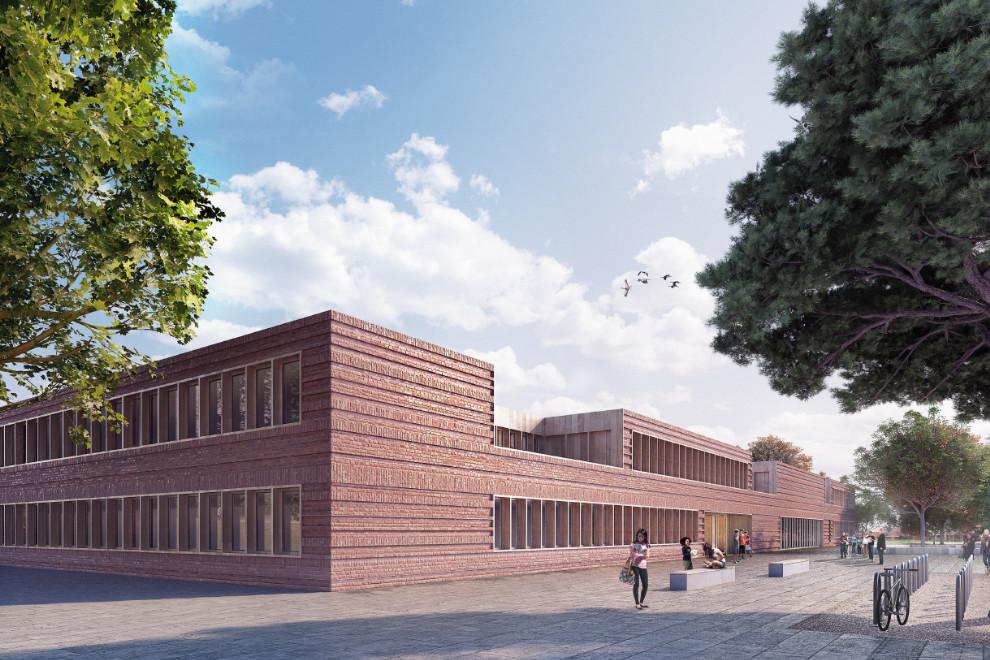Neubau der Clay Oberschule und 2-geschossige Sporthalle in Berlin Neukölln